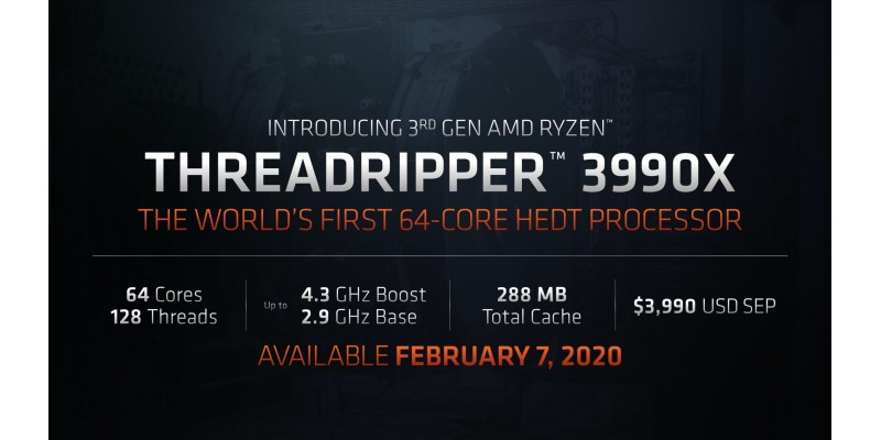 AMD 64 Core powerhouse, 3990X